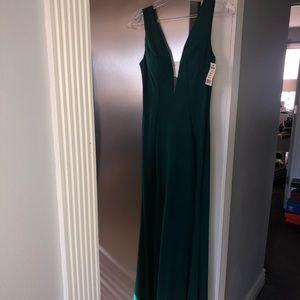 Dark green prom/ fancy occasion dress